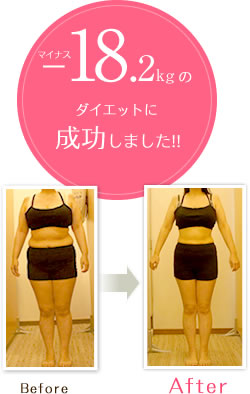 -18.2kg痩せました